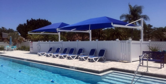 Colony Club Cantilevered Shade Sail