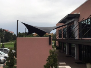 Side View Embassy Suites Shade Sail